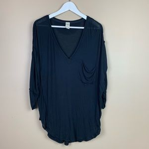 We the free free people black oversized top M 190